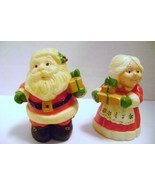 Hallmark Santa & Mrs. Clause Salt & Pepper Shakers - £7.34 GBP