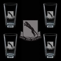 Us Army 138th Regiment Dui 4 Glass Set - $34.64