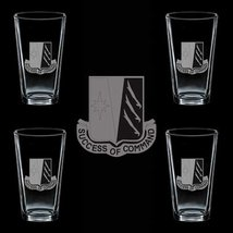 Us Army 138th Signal Battalion Dui 4 Glass Set - $34.64