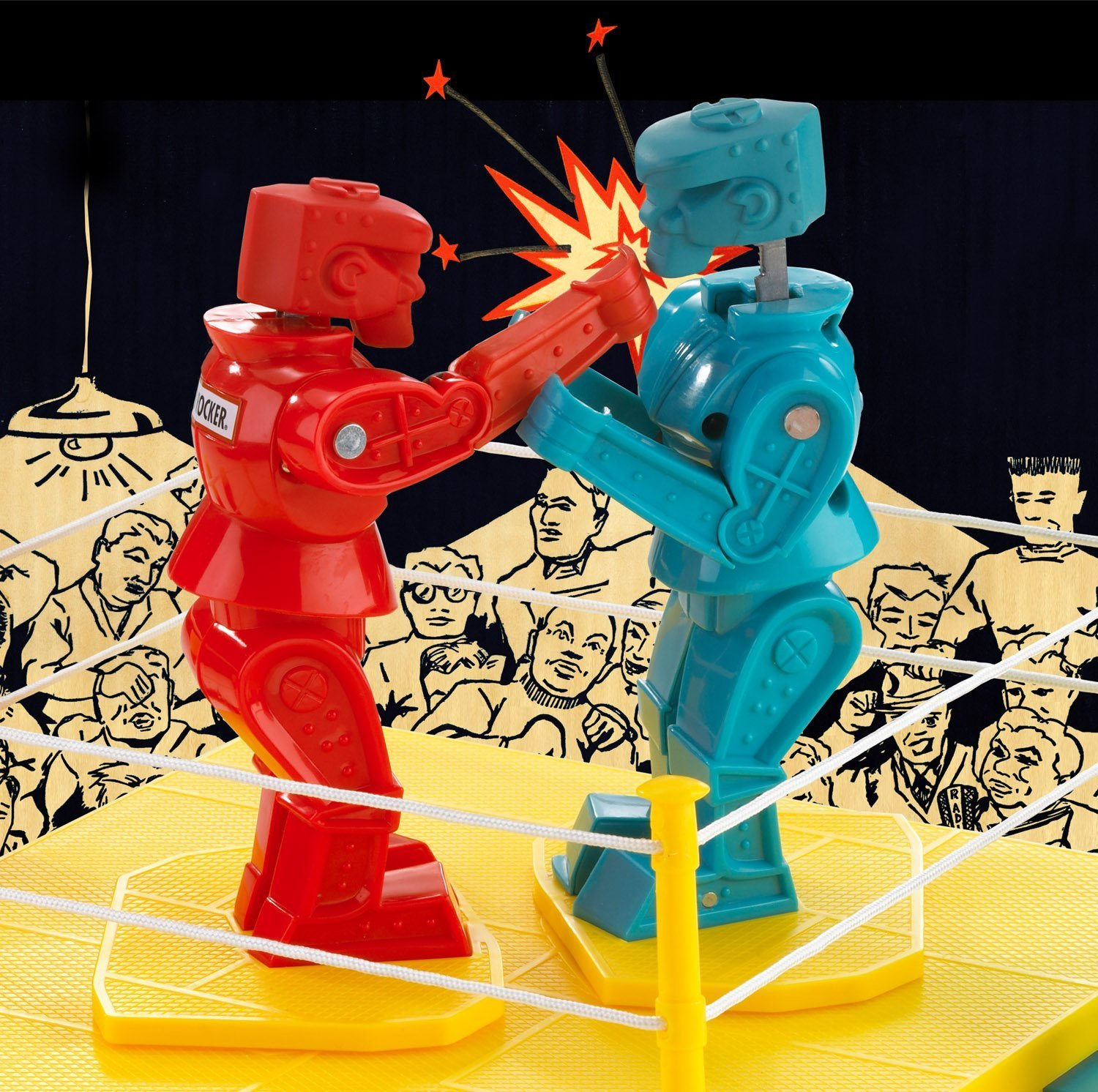 Rock em sock em robots fighting