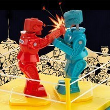 Rock 'Em Sock 'Em ROBOTS Game ROCK'EM SOCK'EM ROBOTS CLASSIC RETRO TOY RED BLUE image 1