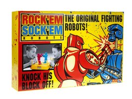 Rock 'Em Sock 'Em ROBOTS Game ROCK'EM SOCK'EM ROBOTS CLASSIC RETRO TOY RED BLUE image 2