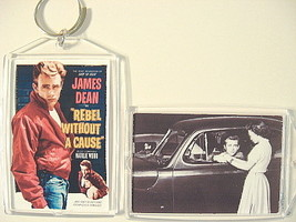 James Dean Keychain Key Chain Rebel Without a Cause Movie Poster Natalie... - $6.50