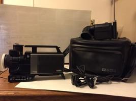 Zenith Movie Camera 1982 Newvicon Vc 1800 Rare Carry Case Vintage Record... - $56.12