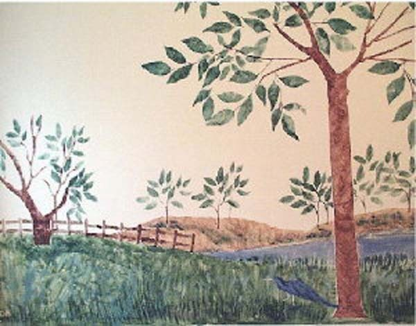 Stencil, Tree Stencil, Life Sized Tree Stencil, Painting Stencil, Wall STencil