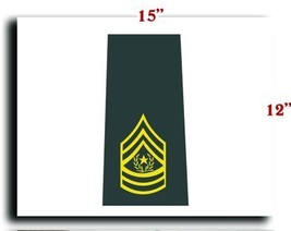 US Army Rank Enlisted Command Sergeant Major Shoulder Marks Gold 1 CANVAS art... - $20.78