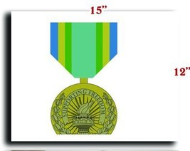 US Army Medal Armed Forces Armed Forces Civilian Service Medal CANVAS art pri... - $20.78