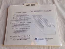 New In Pkg Creative Memories File Mate Folders 13(11 3/4x9 3/4) White Wi... - $5.00