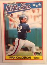 1988 Topps Ivan Calderon Baseball Card(Chicago White Sox) - $2.99