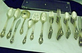LUNT Eloquence Pattern Flatware Sterling Silver 66 PC Cr. 1953  - $3,969.89