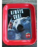 Coca-Cola Commemorative Polar Bear Tray Always Cool 1993 Red Always Coca... - $9.90