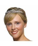 White Pearl Crest Bridal Tiara - $76.00