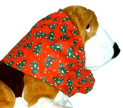 Christmas Trees Red Green Cotton Dog Snood Basset Afghan Springer Spanie... - $12.50