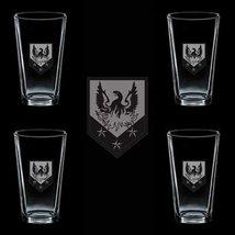 US Army 110th Manuever Enhancement Brigade 4 GLASS SET - $34.64