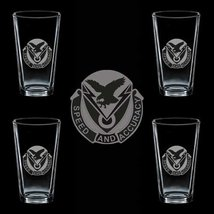 Us Army 327th Signal Battalion Dui 4 Glass Set - $34.64