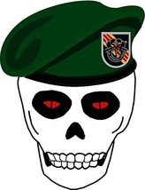 US Army Vietnam Skull with 5th SFG Beret License Plate - $7.91