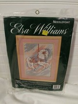 "Vintage Elsa Williams Needlepoint Graceful Carousel 10"" x 14"" Horse Pastels NOS - $29.69"