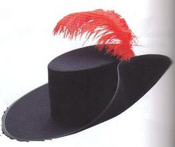 MUSKATEER HAT WITH FEATHER ONE SZ - $15.00