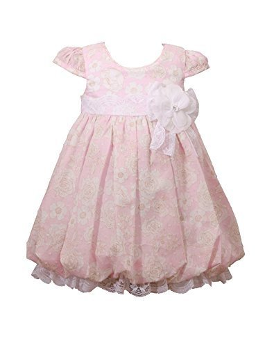 Bonnie Baby Baby Floral Clipdot Dress, Pink, 12 Months [Apparel]