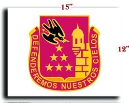 """US Army 201st Regiment DUI CANVAS art print framed stretched 15""""x12"""" [Kitchen] - $20.78"""