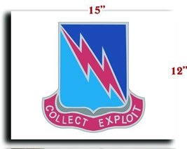 US Army 323rd Military Intelligence Battalion DUI CANVAS art print framed str... - $20.78