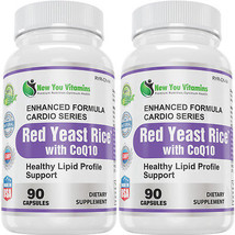 Red Yeast Rice Capsules 1200mg With CoQ10 Lower Cholesterol 180Capsules - $29.99