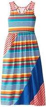 Bonnie Jean Big Girls' Striped Hanky Hem Dress, Multi, 8 [Apparel]