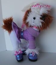 2008 Spin Master Tini Puppini Fashion Diva Puppy Dog Plush Wearing Purple Tutu - $14.84