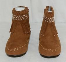 I Love Yo Kids AVA 78K Girls Fringe Boot Rust Silver Studded Size 12 image 2