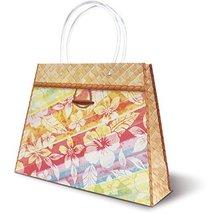 Hawaiian Themed Heavy Paper Gift Purse Handbag Bag (Floral Rainbow) - $15.76 CAD