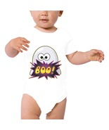 White , Halloween Boo Ghost Baby  One Piece Bodysuit - Can Be Personalized - $24.95