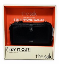the sak Genuine Leather 3-in-1 Phone Wallet, Color: Black Onyx - $49.99