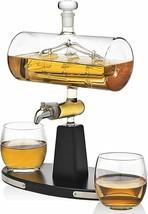 Godinger Whiskey Decanter Dispenser with 2 Whiskey Tumbler Glasses - $95.00