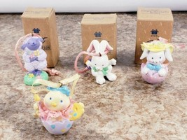 4 Avon Springtime Cuties Decor 2 Bunny Lamb Chic  - $14.53