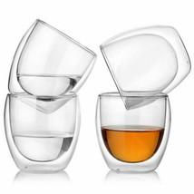 Double Wall Glass Cups Coffee Mug Heat Resistant Cappuccino Beer Milk Te... - $11.95+