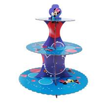 3 Ebenen Minnie Maus Wiederverwendbar Cupcake Ständer Halter Rund Turm für - $9.46