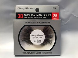 CHERRY BLOSSOM 3D 100% REAL MINK LASHES #72621 CRUELTY FREE LIGHT REUSAB... - $4.54