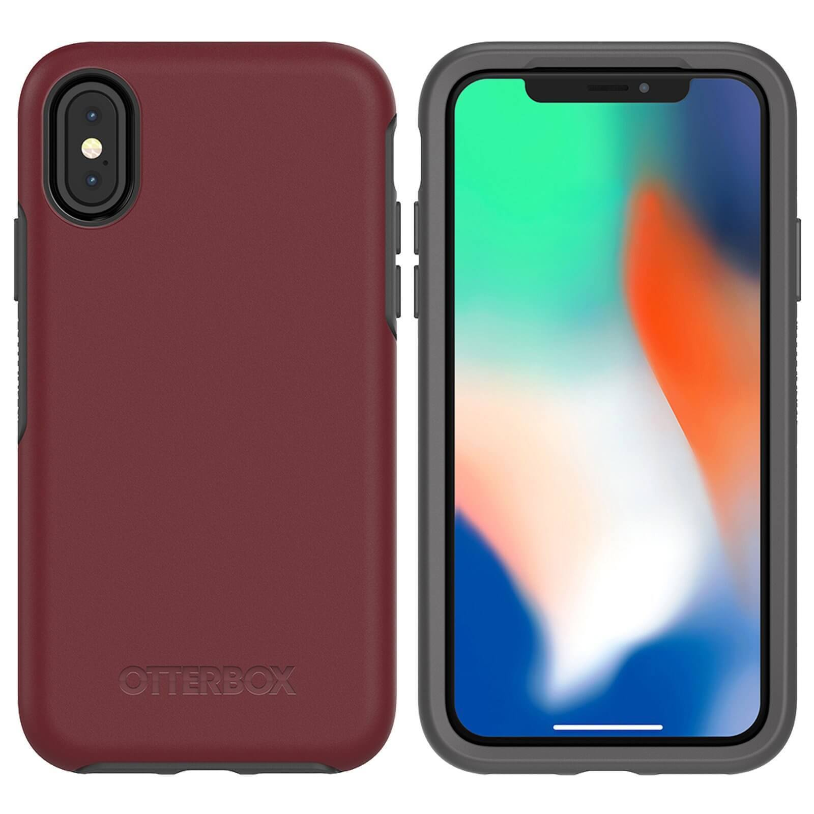 Otterbox Symmetry Series - High Hybrid Protection Case for iPhone X (Red)