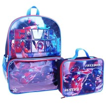 Captain America Civil War Full-Size Backpack &Stow-Away Insulated Lunch Tote Box - $19.79