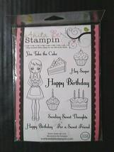 Anita Be Stampin Cling Rubber Stamp Set 11 Happy Birthday Cake Cupcake Sayings - $11.94