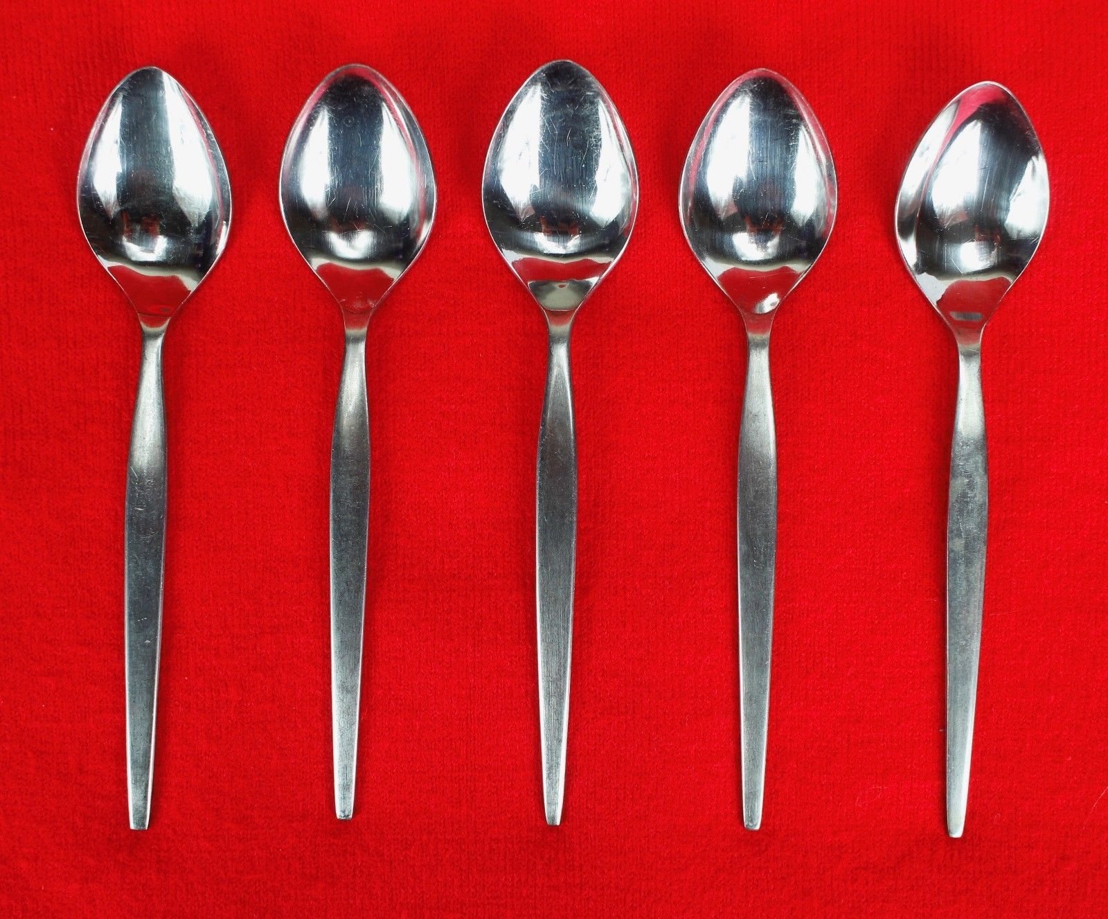 "5X Teaspoon Epic Silver Prince Satin Stainless Flatware 6.5"" Tea Spoons"