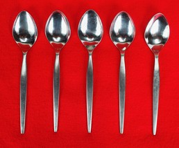 "5X Teaspoon Epic Silver Prince Satin Stainless Flatware 6.5"" Tea Spoons - $27.72"