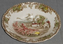 "Johnson Brothers Friendly Village Pattern Oval 9"" Vegetable Bowl England - $31.67"