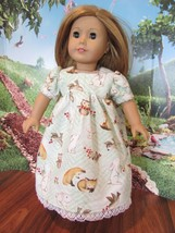 """homemade 18"""" american girl/madame alexander wildlife nightgown doll clothes - $19.60"""