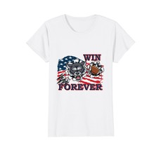 FL ShopWin Forever Courage Wolf American Flag Football T Shirt Wowen - $19.95+