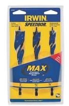 """Irwin Speedbor 3041003 3 Piece MAX Tri-Flute Speed Bits Set 5/8"""" - 1"""" - $9.41"""