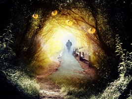 Haunted DIRECT BINDING Walk the Mystical Path of the Druid Priest Rare p... - $216.66