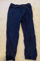 GAP Kids Boys Navy Blue Pull Up Jogger Pants Size Large - $8.59