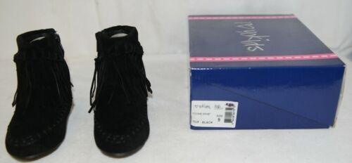 I Love Yo Kids AVA 92T Girls Fringe Boot Black Zip Up Size Nine