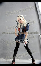Sucker Punch Baby Doll Jacket Skirt Scarf Sailor Cosplay Costume Full Suit Dress - $66.65+